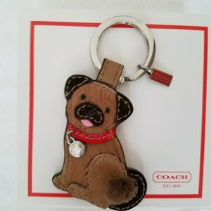 Coach pug keychain